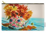 Dahlias In A Painted Cup Carry-all Pouch