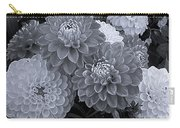 Dahlias Multi Bw Carry-all Pouch
