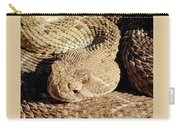 Diamondback Rattlesnake Head 062414a Carry-all Pouch