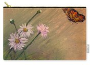 Daisies And Butterfly Carry-all Pouch