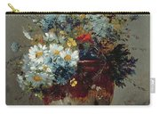 Daisies And Cornflowers Carry-all Pouch