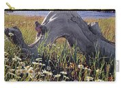 136236-daisies And Driftwood  Carry-all Pouch