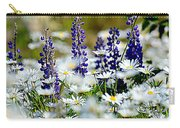 Daisies And Lupine Carry-all Pouch