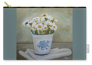 Daisies And Porcelain Carry-all Pouch by Angeles M Pomata
