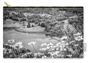 Daisies At Queens View In Greyscale Carry-all Pouch
