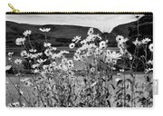 Daisies By The Roadside At Loch Linnhe B W Carry-all Pouch