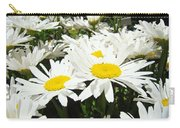 Daisies Floral Landscape Art Prints Daisy Flowers Baslee Troutman Carry-all Pouch