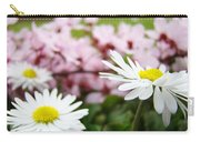 Daisies Flowers Art Prints Spring Flowers Artwork Garden Nature Art Carry-all Pouch