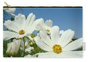 Daisies Flowers Art Prints White Daisy Flower Gardens Carry-all Pouch