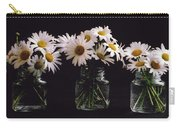 Daisies On Black Carry-all Pouch