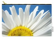 Daisy Art Prints White Daisies Flowers Blue Sky Carry-all Pouch