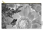 Daisy Bouquet In Black And White Carry-all Pouch