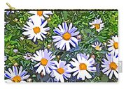 Daisy Flower Garden Abstract Carry-all Pouch