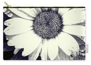 Daisy In Black And White  Carry-all Pouch