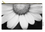 Daisy Smile - Black And White Carry-all Pouch