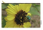 Daisy With Blue Bee Carry-all Pouch