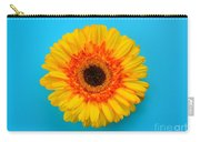 Daisy - Yellow - Orange On Light Blue Carry-all Pouch