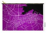 Dalian Street Map - Dalian China Road Map Art On A Purple Backgro Carry-all Pouch