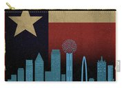 Dallas City Skyline State Flag Of Texas Art Poster Series 020 Carry-all Pouch