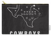 Dallas Cowboys Art - Nfl Football Wall Print Carry-all Pouch by Damon Gray