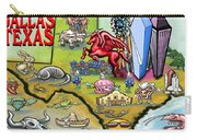 Dallas Texas Cartoon Map Carry-all Pouch