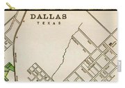 Dallas Texas Map 1899 Carry-all Pouch