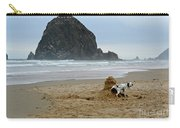 Dalmatian Peeing On Sandcastle Carry-all Pouch