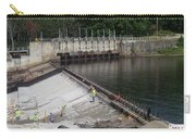 Dam Repairs  Along The Androscoggin River Carry-all Pouch