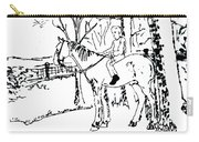 Dan And Horse 11 Carry-all Pouch