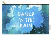Dance In The Rain Cool Blue Carry-all Pouch