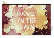 Dance In The Rain Red Version Carry-all Pouch