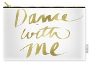 Dance With Me Gold- Art By Linda Woods Carry-all Pouch