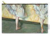 Dancers At The Bar Carry-all Pouch by Edgar Degas