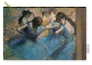 Dancers In Blue Carry-all Pouch by Edgar Degas