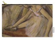 Dancers In Repose Carry-all Pouch by Edgar Degas
