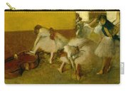 Dancers In The Green Room Carry-all Pouch by Edgar Degas