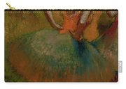 Dancers Wearing Green Skirts Carry-all Pouch by Edgar Degas