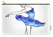 Dancing Ballerina Frosted Blue Carry-all Pouch