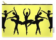 Dancing Ballerinas Silhouette Carry-all Pouch