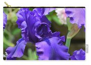 Dancing Blue Irises Carry-all Pouch