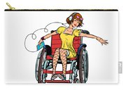 Dancing Girl In A Wheelchair Carry-all Pouch