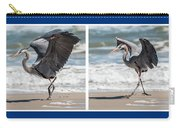 Dancing Heron Triptych Carry-all Pouch