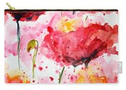 Dancing Poppies Galore Watercolor Carry-all Pouch