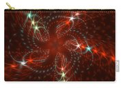 Dancing Red Flower Star In Motion Carry-all Pouch