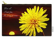 Dandelion Against Sunset With Inspirational Text Carry-all Pouch
