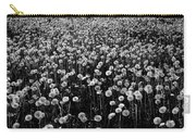 Dandelion Field In Black And White Carry-all Pouch