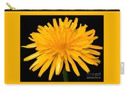 Dandelion Flower Molten Gold Effect Carry-all Pouch