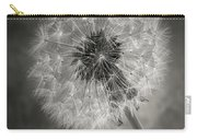 Dandelion In Black And White Carry-all Pouch