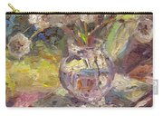 Dandelions Flowers In A Vase Sunny Still Life Painting Carry-all Pouch