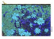 Dandy Digital Daisies In Blue Carry-all Pouch